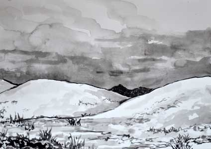 White sands in Ink
